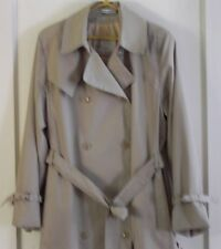 Misty Harbor DOUBLE BREASTED TRENCH RAINCOAT COAT w BELT Tan TAUPE Size 14 Reg