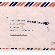 PHILIPPINES Cover INDIA Gandhi 1992 Austria Air Mail *MISSENT TO MANILA* CQ37