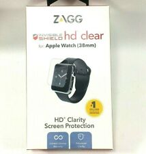 GENUINE ZAGG Invisible Shield HD Clear For Apple Watch Series 3, 2, & 1 38mm NIB