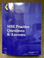 Kaplan MBE Practice Questions & Answers (Summer 2016)