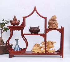 display red hard wood China rosewood tower bottle put small curio shelf shelves