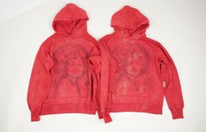 Falectoin 21SS SAINTMICHAEL HOLY GIRL GOD WASHED PRINTED OVERSIZED HOODIE