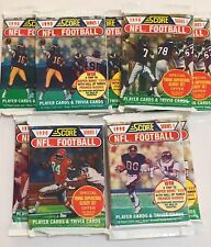 1990 Score Football Series One & Two Unopened Packs Lot Of 19