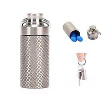 Outdoor Mini Titanium Alloy Seals Bottle Waterproof Canister Medicine Bottles.WR