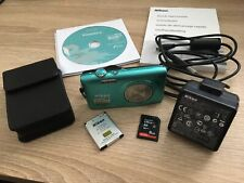 Nikon Coolpix S3300 16MP Blue Digital camera 8GB SD card and case - BOXED