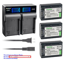 Kastar Battery LCD Rapid Charger for Sony NP-FV50 DCR-SX15 DCR-SX20 DCR-SX21