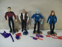 "LOT OF 4 VINTAGE STAR TREK ACTION FIGURES DR BEVERLY CRUSHER SCOTTY ""Q"" BENZITE"