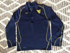 Nike Dri Fit 1/4 Zip Pullover Fleece Jacket West Virginia Mountaineers Mens S