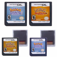 Pokemon SoulSilver HeartGold Version Game Cards Nintendo 3DS NDSI NDS Lite a F01