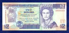 Belize, 1991 $2 Banknote, Two Dollars, Excellent Grade (Ref. b0985)