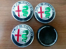 Set of 4pcs NEW DESIGN Alfa Romeo 50mm hub caps - emblem logo insignia