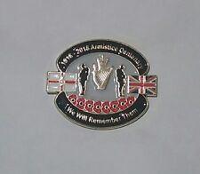 Poppy Lapel pin badge new Armistice centenary 1st World War remembrance loyalist