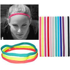 Gym fitness Yoga Hair Band Sports Headband Anti-Slip Elastic Rubber hairband