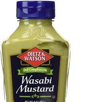 Dietz & Watson Wasabi Mustard One 9 oz  Bottle Deli Sandwich Philly