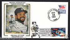 Reggie Jackson Usps 1993 Z Silk Cachet Envelope Yankees retirement day 2 stamps
