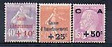 France 1928 Yvert n° 249 à 251 neuf ** 1er choix