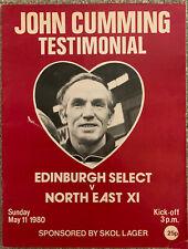 More details for edinburgh select v north east xi john cumming testimonial 1979/80 signed