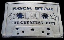 Hits Music Buckles Boucle De Ceinture Belt Buckle Rock Star Cassette Greatest