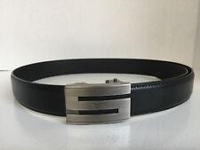 Septwolves men real Genuine cow leather belt Auto lock Buckle black 513132000
