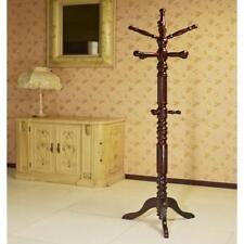 Coat Rack 12-Hook 3-Tiers Wood Composite Classic Design in Espresso Finish