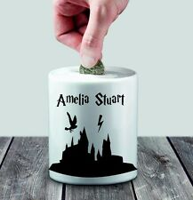 Personalised Ceramic Harry Potter Theme Money Box - Any Name- Great Gift Idea