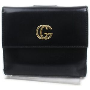 Gucci Wallet  Black Leather 632755