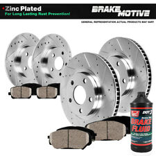 Front+Rear Brake Rotors & Ceramic Pads For 2011 2012 2013 Chevy Impala Ls Lt Ltz
