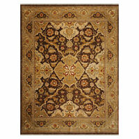 """8'10"""" x 11'10"""" Hand Knotted 100% Wool Gold Wash Peshawar Oriental Area Rug Brown"""