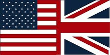 "American British Flag Decal 5""x3"" USA Britain Union Jack Vinyl Car Sticker"