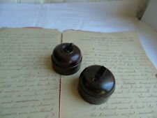 French 2  porcelain bakelite  toggle  switches antique / vintage classic style