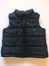 Sonoma Life+Style Baby Boys Full Zip Up Puffer Vest Sleeveless Blue SZ 24 Months