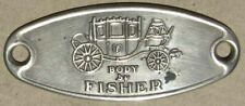 GM FISHER BODY EMBOSSED EMBLEM Buick Cadillac Chevrolet Oldsmobile Pontiac #H154