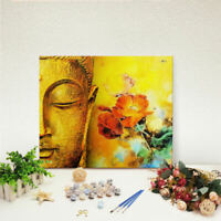 DIY Buddha Paint By Number Kit Acrylic Oil Painting On Canvas Art Home ILV MSG