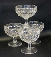 Fostoria American Clear Vintage Low Footed Sherbet Glasses Set of 4