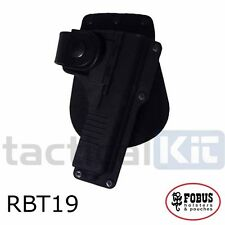 New Fobus Glock 19 Tactical Light Laser Bearing Paddle RBT19 Holster UK Seller