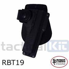 New Fobus Glock 19 Tactical Light Laser Bearing Paddle RBT19 Holster UK Seller