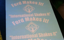 2 BACK GLASS 12X6 INTERNATIONAL DIESEL DECAL STICKER NAVISTAR 4X4 TRUCK 4WD