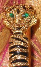 Tribal Emerald Green Eye Cuff/Bangle Tiger Bracelet Crystal Cz Rhinstones Animal