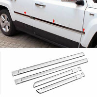 6pcs ABS Chrome Body Door Side Molding Cover Trim fit for 2011-2017 Jeep Patriot