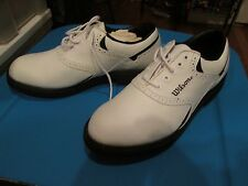 Wilson Pro Staff Contour Golf SHOES #GSO60 Synthetic Leather White, Size 7