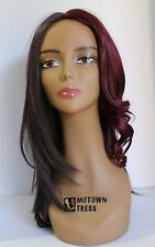 """Synthetic Wig - Long Straight Left side Flip-Out 16"""" 4FTWINE"""