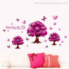 Trees Love Hearts butterfly Wall Sticker Removable Room Decal Home Decor