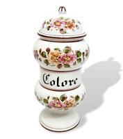 Vaso farmacia in ceramica colore anni 50 vintage modernariato