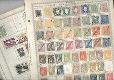 ANGOLA,  Excellent assortment of Stamps hinged on Minkus pages