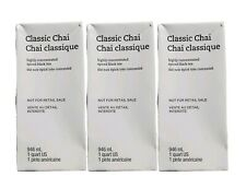 Starbucks (3 Pack) Classic Chai Concentrate Spiced Black Teas Lattes 1QT 04/2020