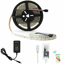 5M 3528 RGB 300Leds LED Strip Light Waterproof +APP WIFI Controller+DC 12V Power