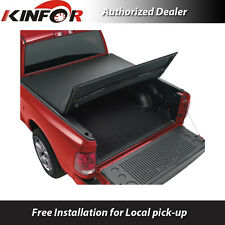 "Premium Vinyl Tri-Folding Tonneau Cover for 2014-2016 Ram 1500 - 5' 7"" Bed"