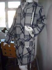 Diesel ladies purple/grey check wool coat with hood size S (UK 10 or 12)
