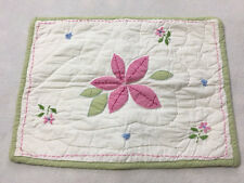 Pottery Barn Kids Small Vine Patchwork Pillow Sham Pink Flower Girls PBK