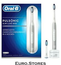 ORAL-B Pulsonic Slim Luxe 4100,Electric Toothbrush,Silver/White